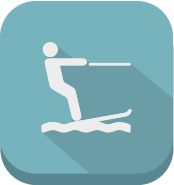 icon of water skiing